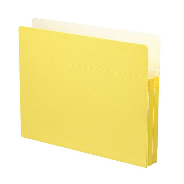 "Smead File Pocket, Straight-Cut Tab, 1-3/4"" Expansion, Letter Size, Yellow, 25 per Box (73223)"