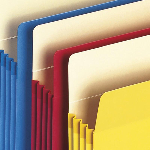 "Smead File Pocket, Straight-Cut Tab, 3-1/2"" Expansion, Letter Size, Assorted Colors, 25 per Box (73890)"