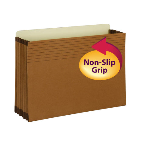 "Smead Full-Height Pocket with Easy Grip®, Straight-Cut Tab, 5-1/4"" Expansion, Legal Size, Redrope, 10 per Box (74285)"