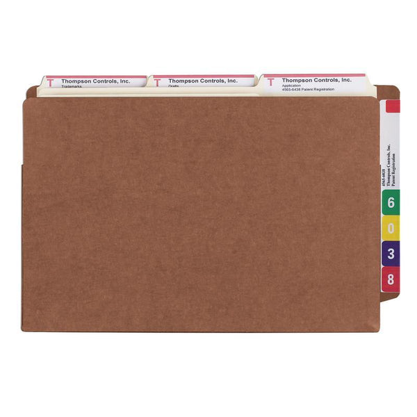 "Smead End Tab TUFF® File Pocket, Reinforced Straight-Cut Tab, Tyvek® Gusset, 5-1/4"" Expansion, Extra Wide Legal Size, Redrope (74790)"