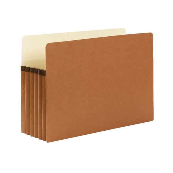 "Smead File Pocket, Straight-Cut Tab, 5-1/4"" Expansion, Legal Size, Redrope, 50 per Box (74810)"