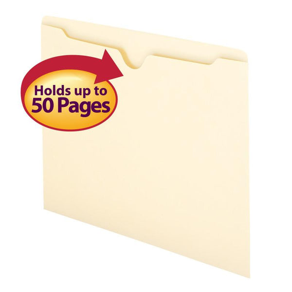 Smead File Jacket, Flat-No Expansion, Letter Size, Manila, 100 per Box (75410)