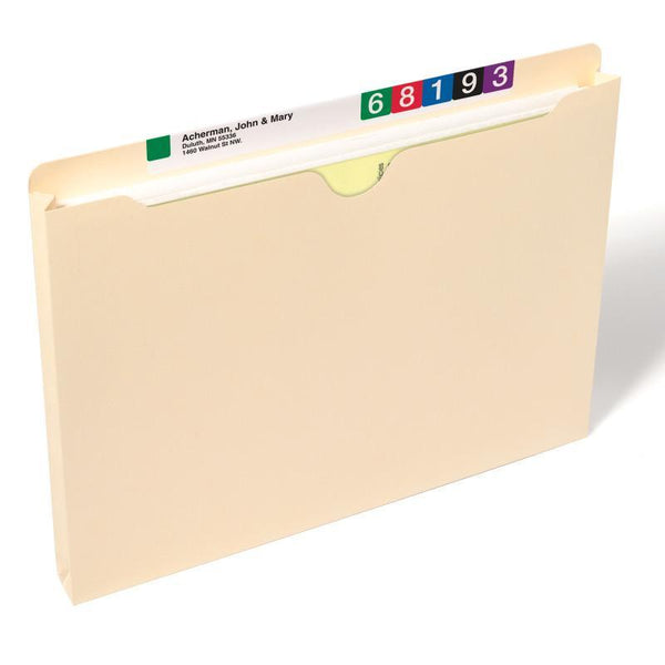 "Smead File Jacket, 1"" Expansion, Letter Size, Manila, 50 per Box (75439)"