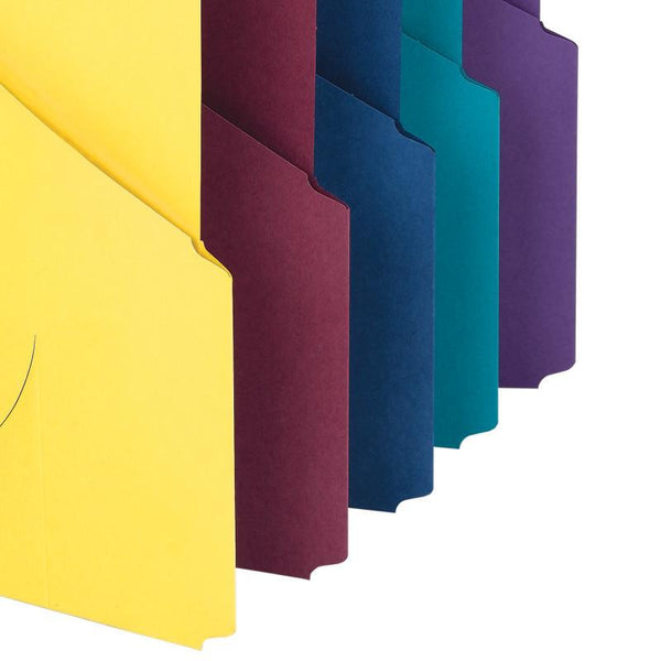 Smead Organized Up® Project Jackets, 2/5-Cut Tab, Bottom Position, Three-Hole Punched, Letter Size, Assorted Colors, 10 per Pack (75452)