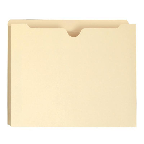"Smead File Jacket, Reinforced Straight-Cut Tab, 1"" Expansion, Letter Size, Manila, 50 per Box (75520)"