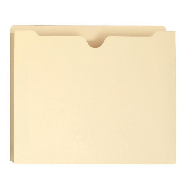 "Smead File Jacket, Reinforced Straight-Cut Tab, 1-1/2"" Expansion, Letter Size, Manila, 50 per Box (75540)"