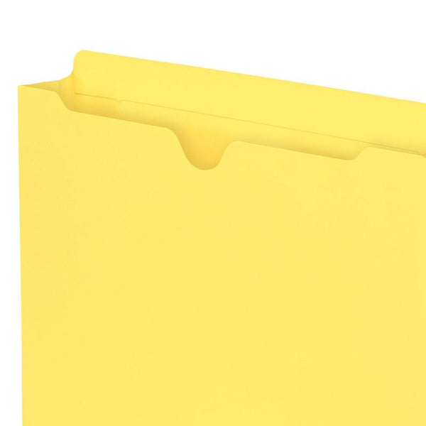 "Smead Colored File Jacket, Reinforced Straight-Cut Tab, 2"" Expansion, Letter Size, Assorted Colors, 10 per Pack (75688)"