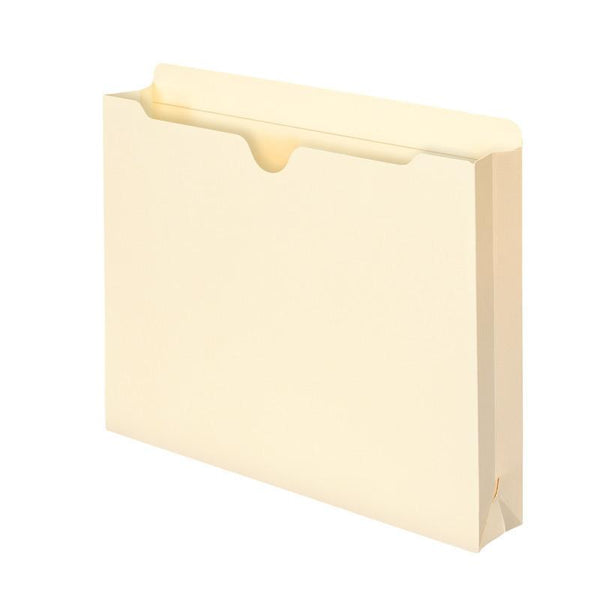 "Smead File Jacket, Reinforced Tab, 2"" Expansion, Letter Size, Manila, 25 per Pack (75691)"