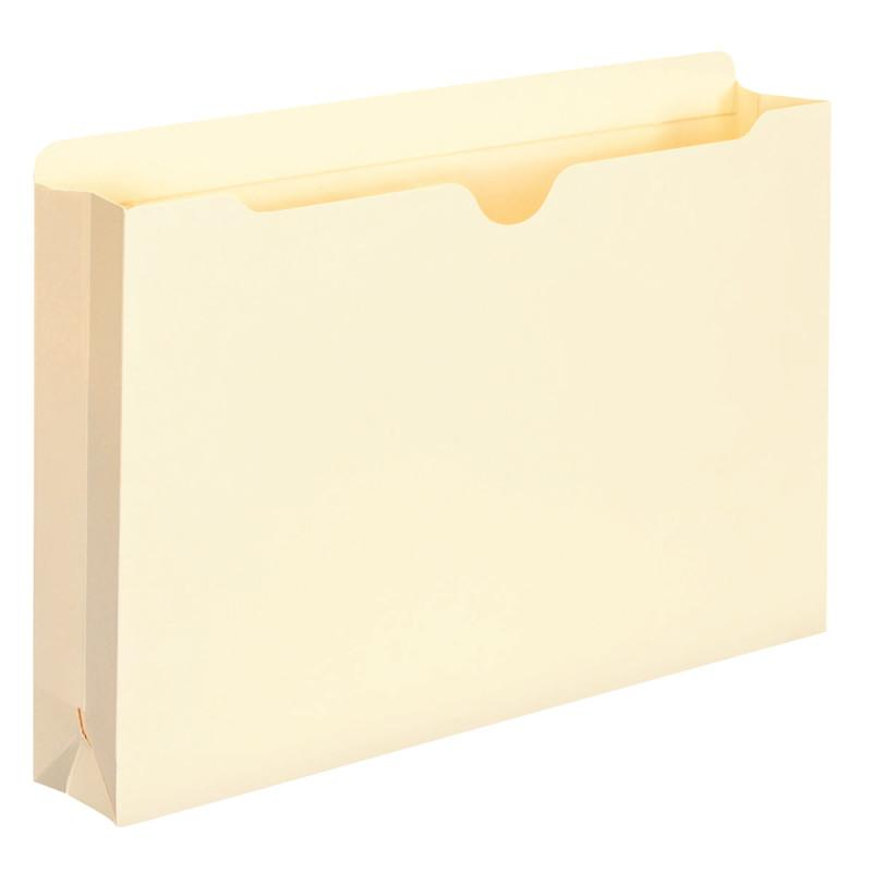 "Smead File Jacket, Reinforced Tab, 2"" Expansion, Legal Size, Manila, 50 per Box (76560)"