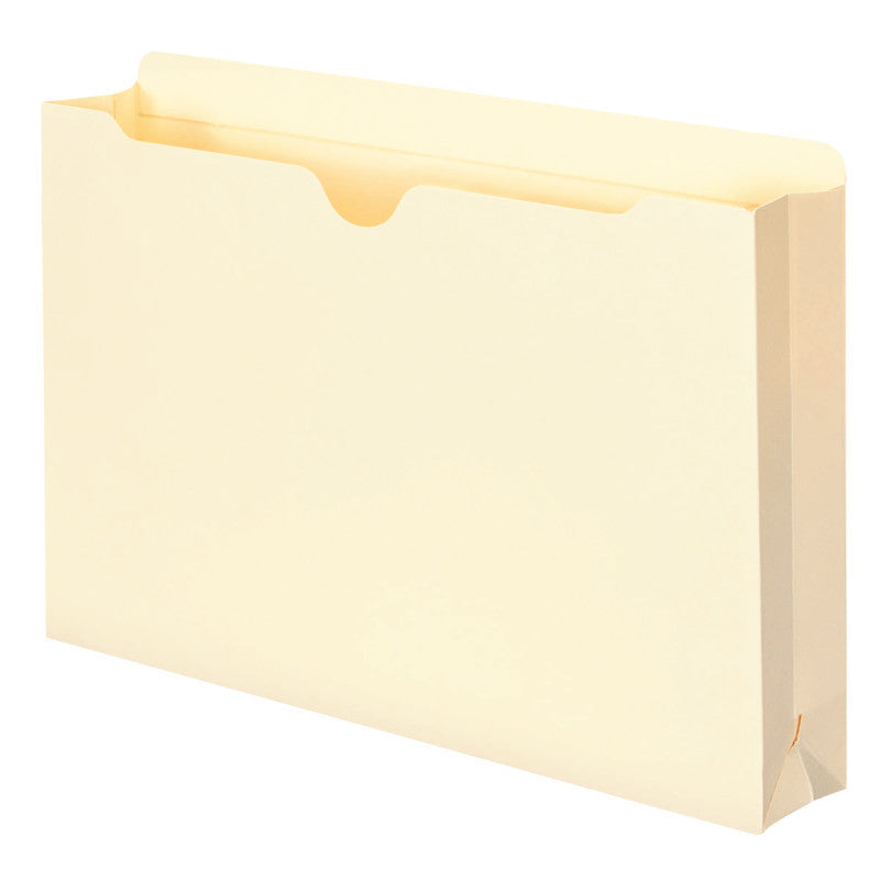 "Smead File Jacket, Reinforced Tab, 2"" Expansion, Legal Size, Manila, 10 per Pack  (76691)"