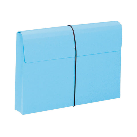 "Smead Expanding File Wallet, 2"" Expansion, Protective Flap and Cord Closure, Legal Size, Blue, 10 per Box (77208)"