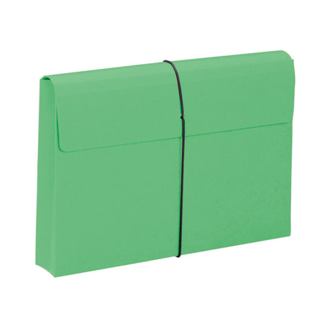 "Smead Expanding File Wallet, 2"" Expansion, Protective Flap and Cord Closure, Legal Size, Green, 10 per Box (77209)"