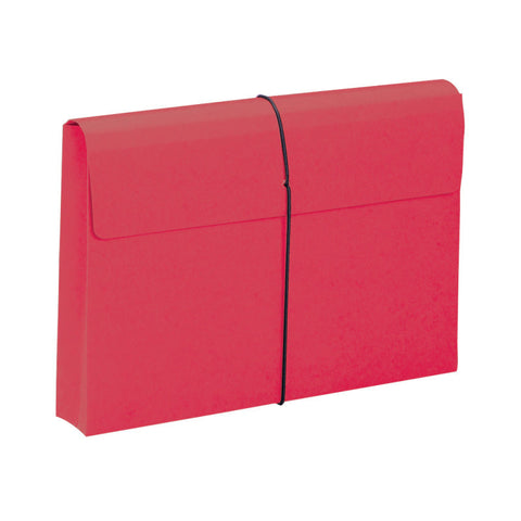 "Smead Expanding File Wallet, 2"" Expansion, Protective Flap and Cord Closure, Legal Size, Red, 10 per Box (77210)"