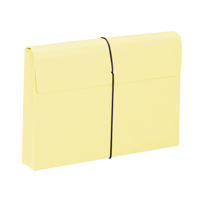 "Smead Expanding File Wallet, 2"" Expansion, Protective Flap and Cord Closure, Legal Size, Yellow, 10 per Box (77211)"