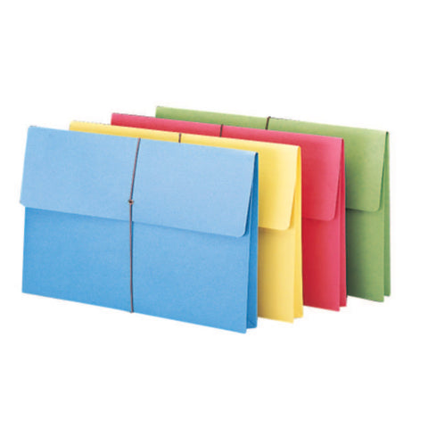 "Smead Expanding Wallet, 2"" Expansion, Flap and Cord Closure, Legal Size, Assorted Colors, 50 per Box (77271)"