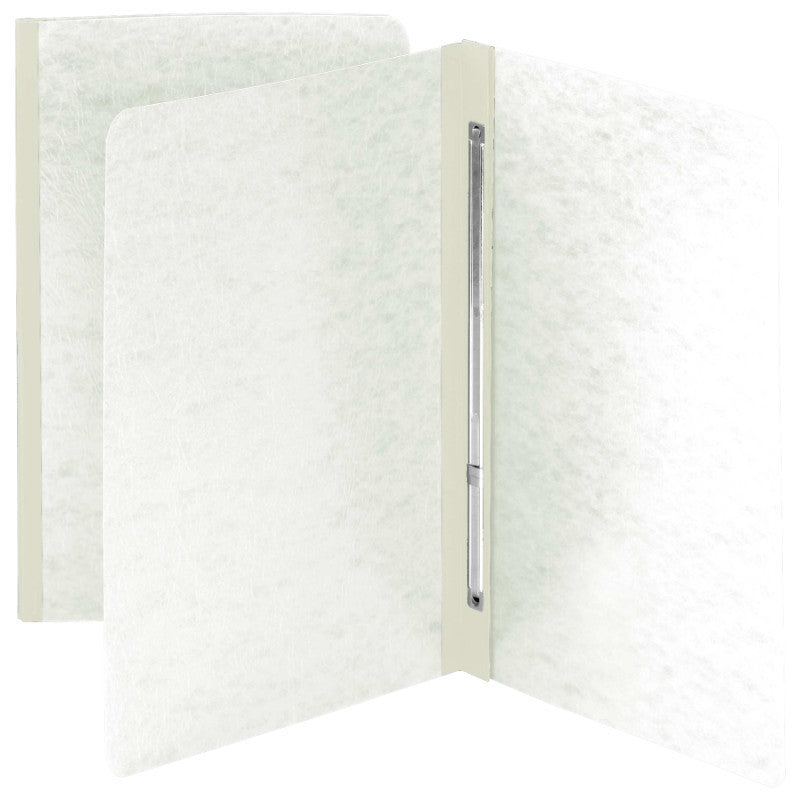 Smead White Pressboard Report Covers,Side Fastener, Box Of