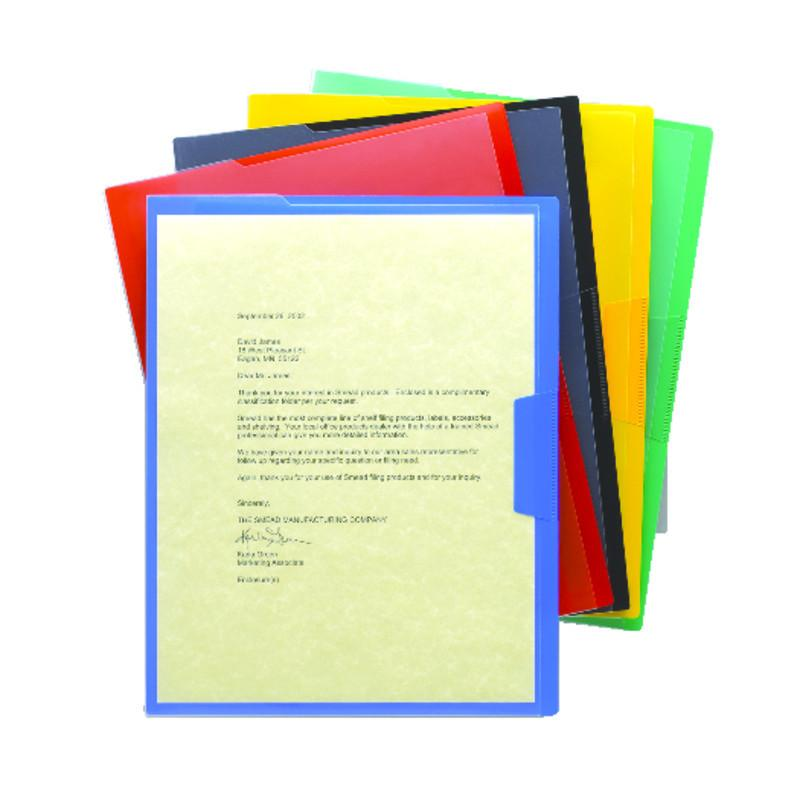 Smead Organized Up® Poly Opaque Project Jacket, Letter Size, Assorted Colors, 5 per Pack (85740)