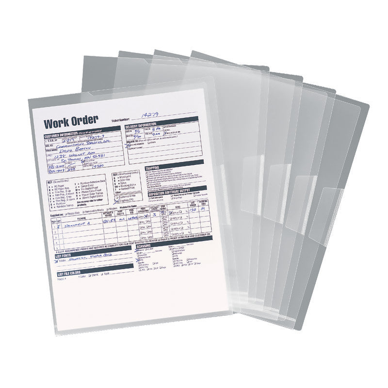 Smead Organized Up® Poly Translucent Project File Jacket, Letter Size, Clear, 5 per Pack (85751)