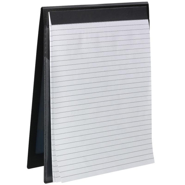 Smead Organized Up® NoteMate™ Pad Folio, Clear Poly Front, Black,  2 per Pack (85815)