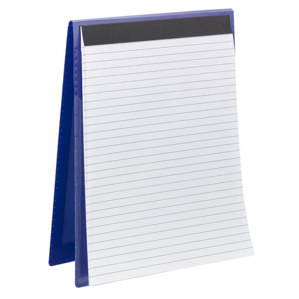 Smead Organized Up® NoteMate™ Pad Folio, Clear Poly Front, Dark Blue,  2 per Pack (85816)