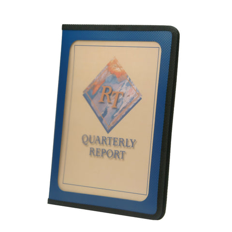 Smead Poly View Front Pad Folio, Clear Front Pocket, Letter Size, Dark Blue (85848)