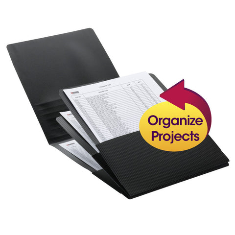 Smead Organized Up® Poly Stackit® Organizers, Letter Size, Black, 2 per Pack (87005)