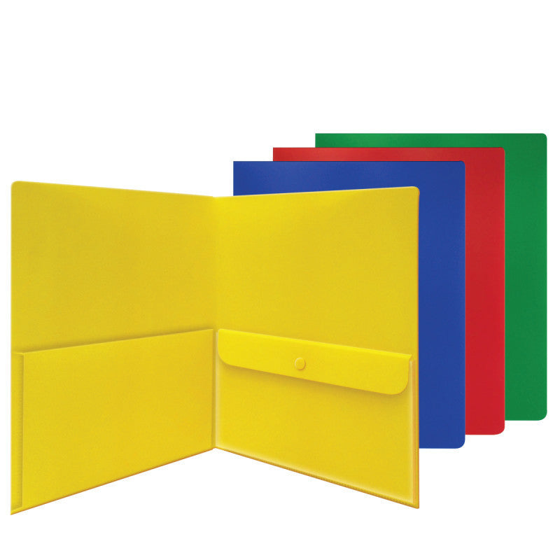 Carton of 48 Smead Two Pocket File Folders, Security Envelope, Poly, Letter  Size, Assorted Colors (87710)