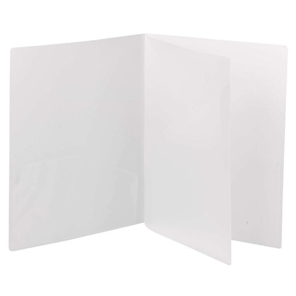 Smead Poly Four-Pocket Folder, Holds up to 100 Sheets, Letter Size, Oyster, 5 per Pack (87721)