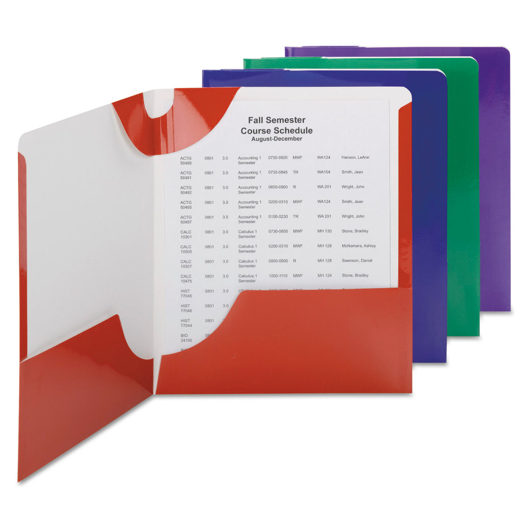 Smead® Lockit® Two-Pocket Folders, Letter Size, 8 per pack (87800)