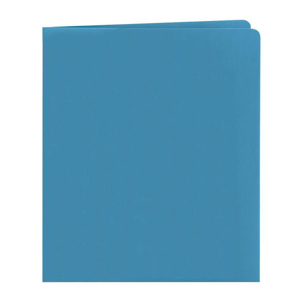 Smead Two-Pocket Heavyweight Folder, Letter Size, Blue, 25 per Box (87852)
