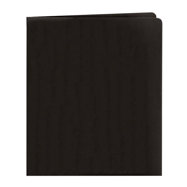 Smead Two-Pocket Heavyweight Folder, Letter Size, Black, 25 per Box (87853)