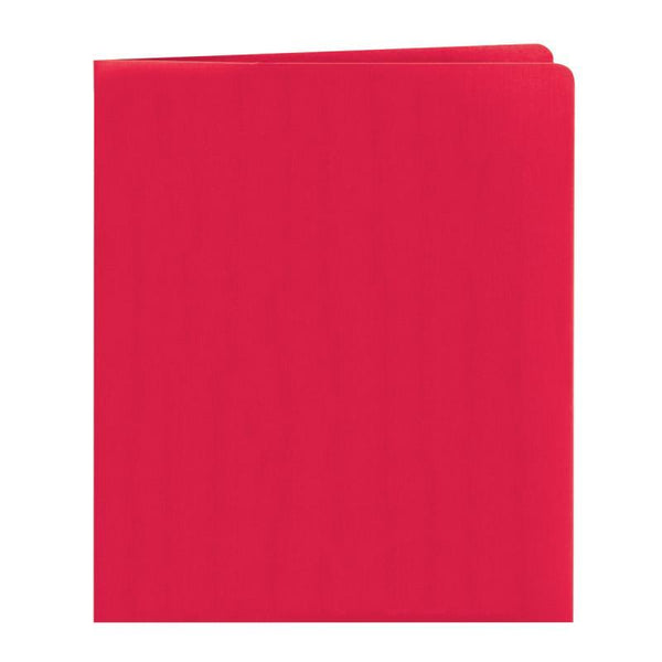 Smead Two-Pocket Heavyweight Folder, Letter Size, Red, 25 per Box (87859)