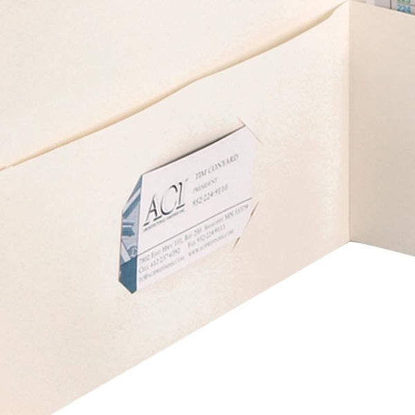 Smead Two-Pocket Heavyweight Folder, Letter Size, White, 25 per Box (87861)