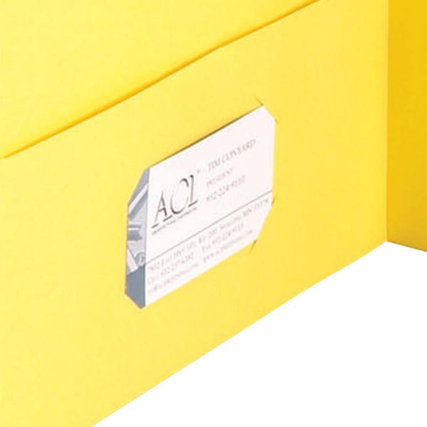 Smead Two-Pocket Heavyweight Folder, Letter Size, Yellow, 25 per Box (87862)