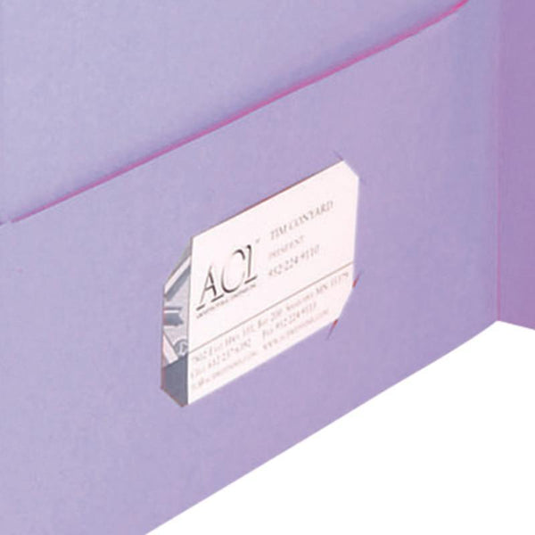 Smead Two-Pocket Heavyweight Folder, Letter Size, Lavender, 25 per Box (87865)