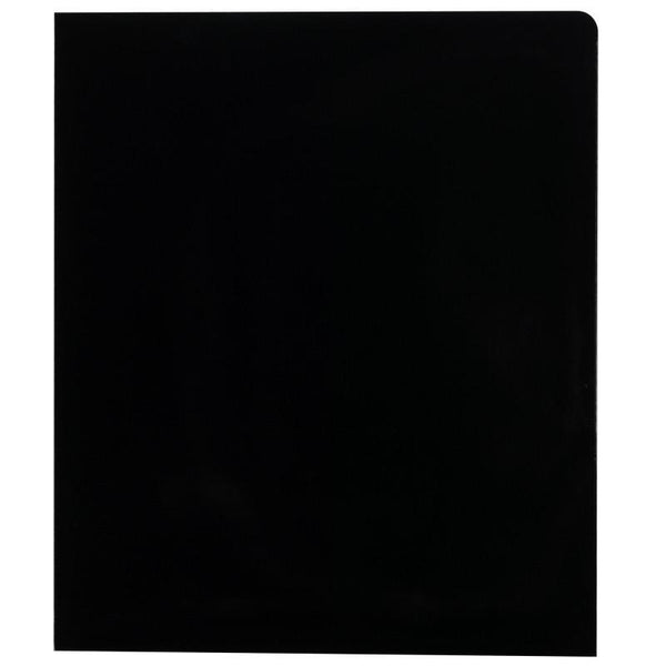 Smead High Gloss Two-Pocket Folders, Letter Size, Black, 25 per Box (87874)
