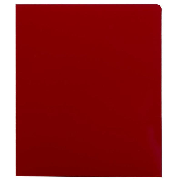Smead High Gloss Two-Pocket Folders, Letter Size, Red, 25 per Box (87880)