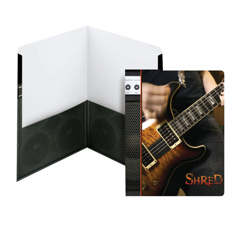 Carton of 50 Smead Raditude™ Collection Two-Pocket File Folder, Letter Size, Shred (Guitar) (87905)