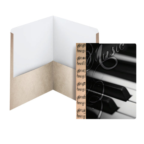 Carton of 50 Smead Raditude™ Collection Two-Pocket File Folder, Letter Size, Piano (87906)