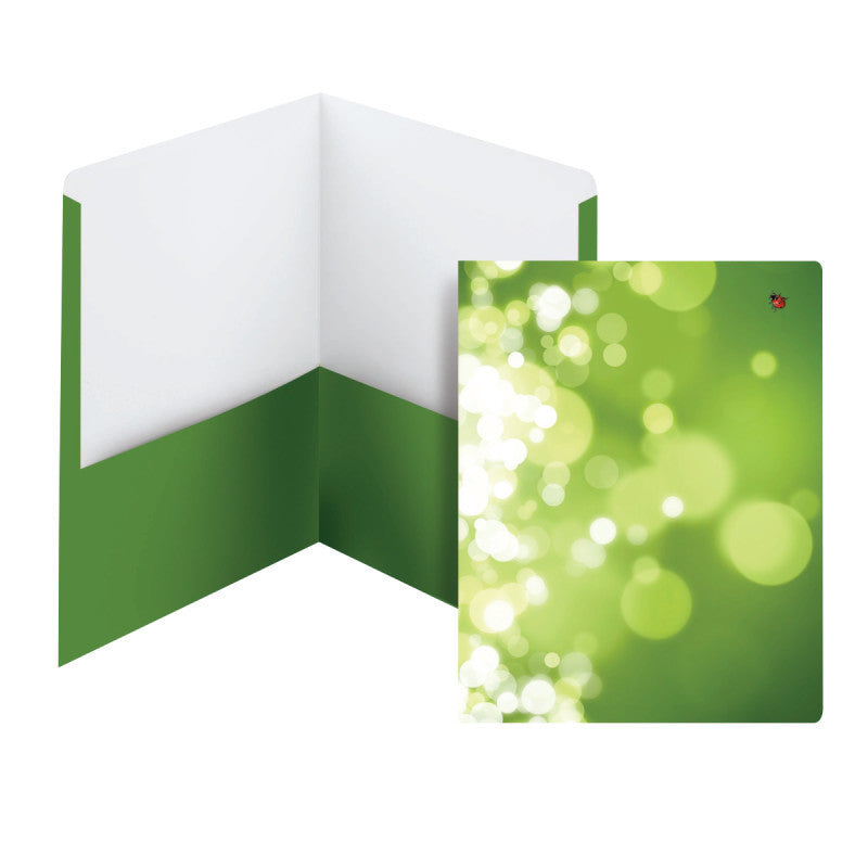 Carton of 50 Smead Raditude™ Collection Two-Pocket File Folder, Letter Size, Ladybug/Bubbles (87908)
