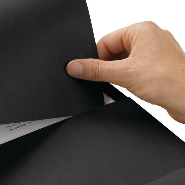 Smead Organized Up® Stackit® Folder, Letter Size, Textured Stock, Black, 10 per Pack (87913)