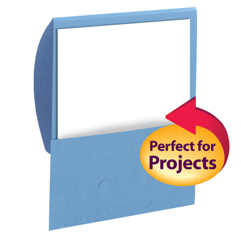 Smead Organized Up® Stackit® Folder, Letter Size, Textured Stock, Blue, 10 per Pack (87914)