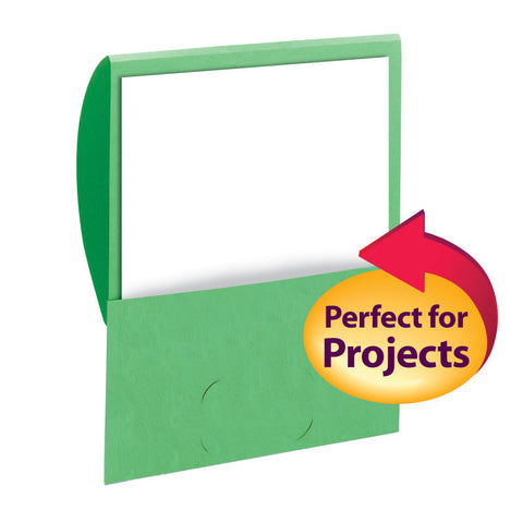 Smead Organized Up® Stackit® Folder, Letter Size, Textured Stock, Green, 10 per Pack (87915)