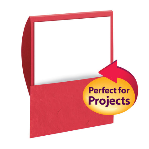 Smead Organized Up® Stackit® Folder, Letter Size, Textured Stock, Red, 10 per Pack (87916)