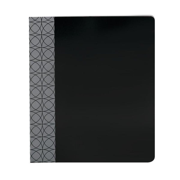 Smead Professional Series Two Pocket Folder, Letter Size, Black, 5 per Pack (87937)