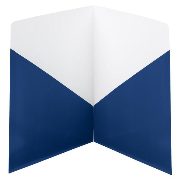 Smead Contemporary Two-Pocket Folders, Letter Size, Dark Blue, 25 per Box (87960)