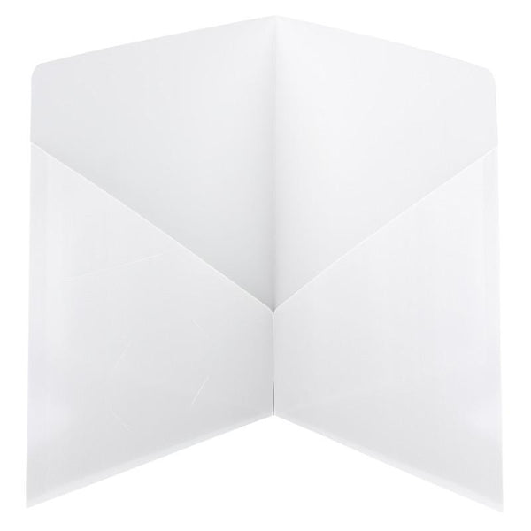 Smead Contemporary Two-Pocket Folders, Letter Size, White, 25 per Box (87962)