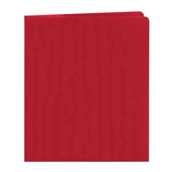 Smead Lockit® Two-Pocket File Folder, Letter Size, Red, 25 per Box (87980)