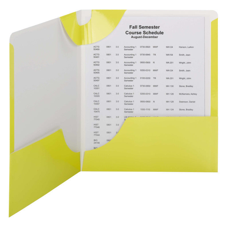 Carton of 50 Smead Lockit® Two-Pocket File Folders, Letter Size, Yellow (87987)