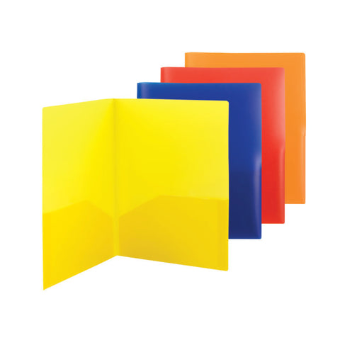 Carton of 60 Smead Poly Two-Pocket File Folder, Letter Size, Assorted Colors (87994)